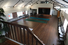 Hall interior and indoor bowls