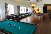 Hall inside with pool table